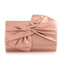 Champagne Bow Clutch Bag