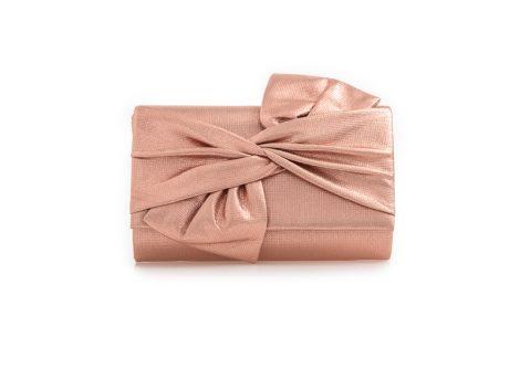 Champagne Bow Clutch Bag