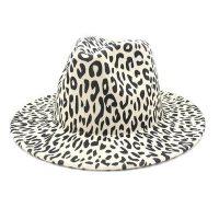 Leopard Print Fedora Hat