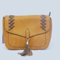 Mustard Tassel Shoulder Bag