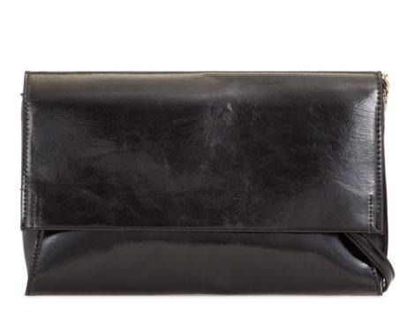 Black Shiny Clutch Bag