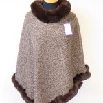 Brown Fur Speckled Poncho