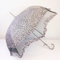 Black White Leopard Brolly