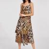 Brown Animal Print Dress