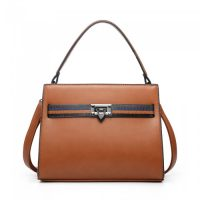 Brown Belted Effect Handbag