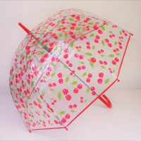 Cherry Plastic Waterproof Brolly