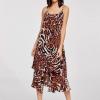 Dark Brown Animal Print Dress