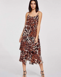 Dark Brown Animal Print Dress