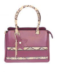 Dark Red Snakeskin Handbag