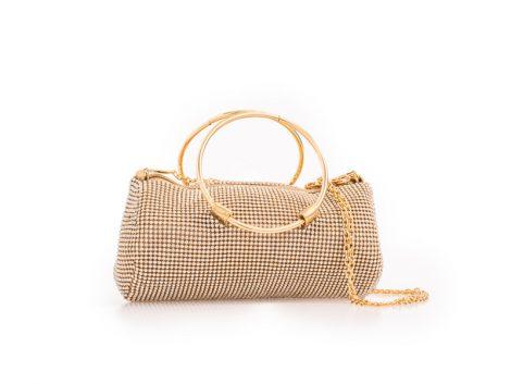 Gold Diamante Clutch Bag