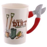 Shaped Handle Garden Mug
