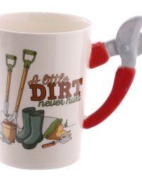 Shaped Handle Garden Mug
