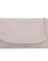Silver Diamante Envelope Clutch
