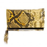 Yellow Snakeskin Purse
