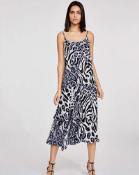 Black Animal Print Dress