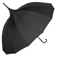 Black Plain Pagoda Brolly