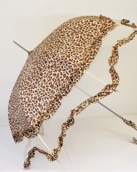 Brown White Leopard Brolly
