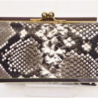 Grey Snakeskin Fashion Purse
