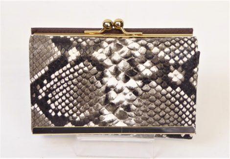 Grey Snakeskin Fashion Purse