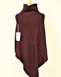 Purple Knitted Polo Poncho