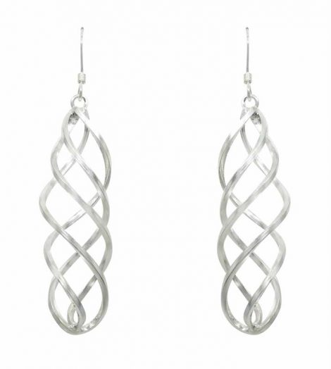 925 Silver Spiral Drop Earrings