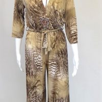 Beige and Brown Jumpsuit A