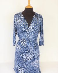 Blue Animal Print Dress