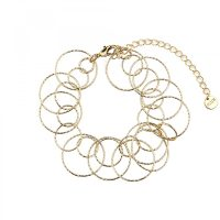 Linked Circles and Circles Bracelet