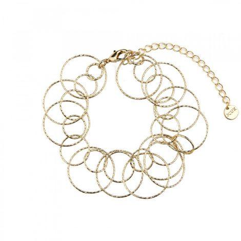 Linked Circles and Circles Bracelet