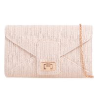 Ivory Weaved Clutch Bag