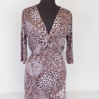 Pink Animal Print Dress Side