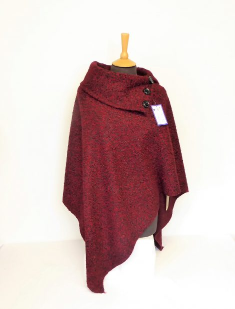 Red and Black Collar Ponchos
