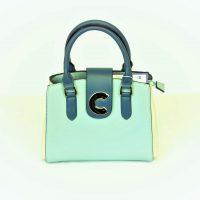 Sea Blue Cream Handbag