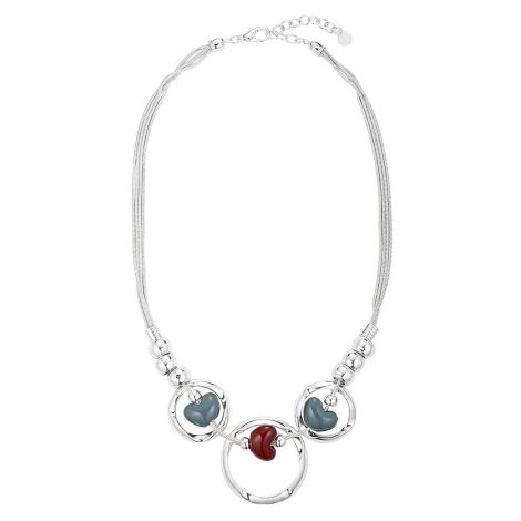 Silver Circle Heart Necklace