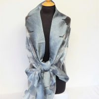 Silver and Grey Roses Shawl