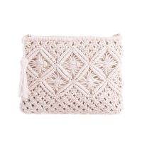 White Crochet Clutch Bag