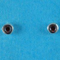 925 Garnet CZ Stud Earrings