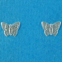 925 Silver Butterfly Stud Earrings