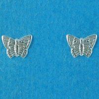 925 Silver Butterfly Stud Earrings