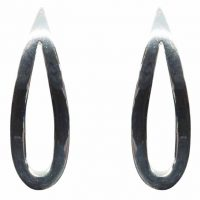 925 Silver Teardrop Stud Earrings