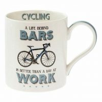 Novelty Cycling Life Behind Bars Mug