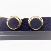Blue Round Cuff Links
