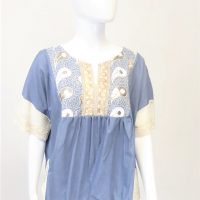Denim Blue Kaftan Top
