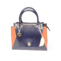 Navy and Tan Handbag
