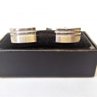 Silver Stripe Cuff Links