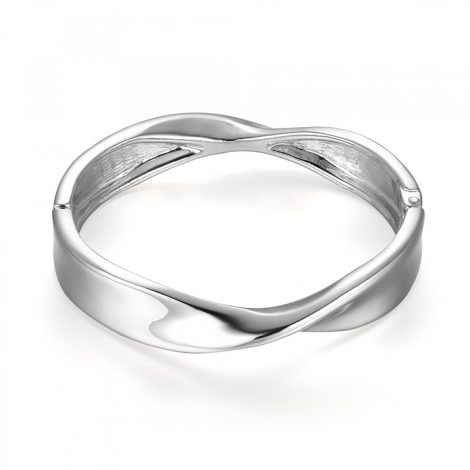 Silver Twisted Bangle
