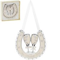 Wedding Day Silver Plated Horse Shoe