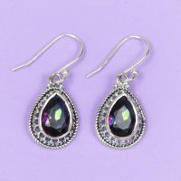 925 Silver Mystic Quartz Dangley Earrings