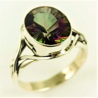 925 Silver Mystic Quartz Ring