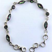 925 Silver Mystic Topaz Bracelet